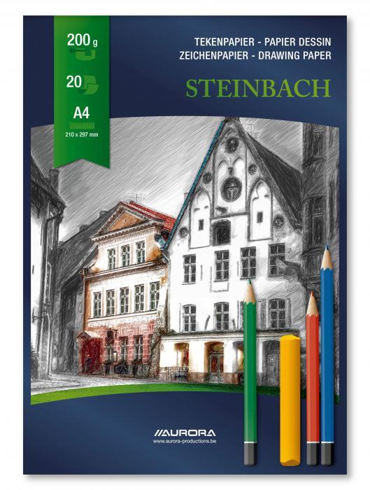Bloc desen A4, 20 file - 200g/mp, AURORA Steinbach 0