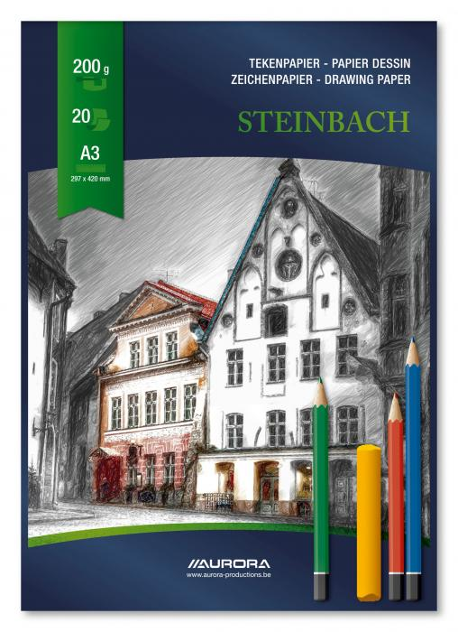 Bloc desen A3, 20 file - 200g/mp, AURORA Steinbach 0