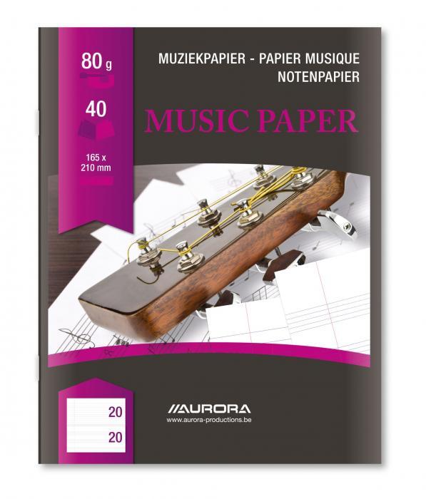 Caiet A5, 20 file - 80g/mp, AURORA - muzica 0