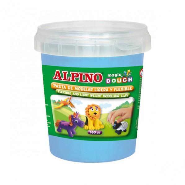 Plastilina magica, 160 grame/cutie, ALPINO - bleu 0