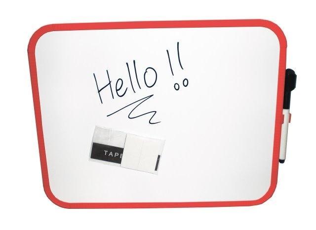 Tablita magnetica alba, pentru scris, 27.9 x 35.6 cm + marker, CLIPPER - culori rame - asortate