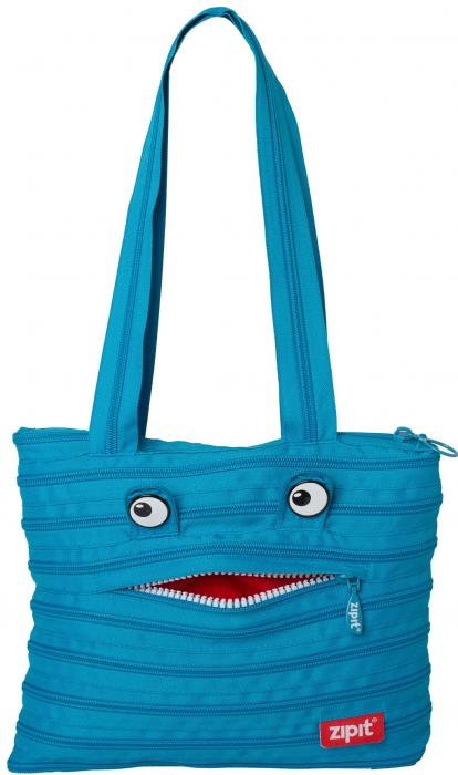 Geanta de umar ZIP..IT Monster Tote - turcoaz bleu 0