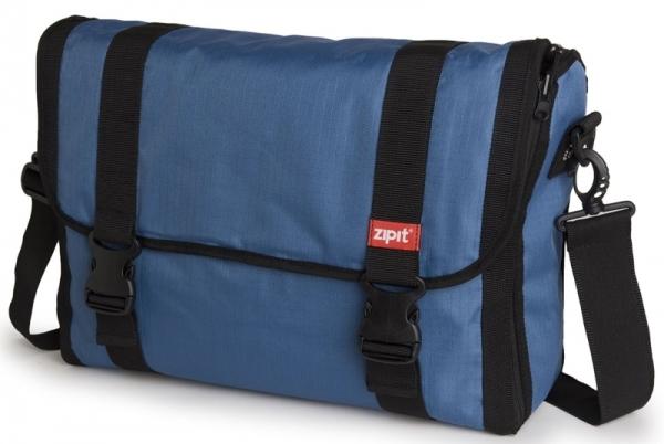 "Geanta reversibila ZIP..IT, cu husa laptop 15.6"" - albastru/argintiu"