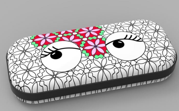 Penar cu fermoar, ZIP..IT Color In - lashes - EAN 7290103197063
