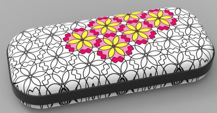 Penar cu fermoar, ZIP..IT Color In - Small Flowers - EAN 7290103197100