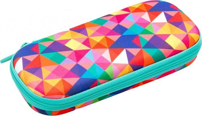 Penar cu fermoar, ZIP..IT Colorz box - triunghiuri culori asortate - EAN 7290103196851 0