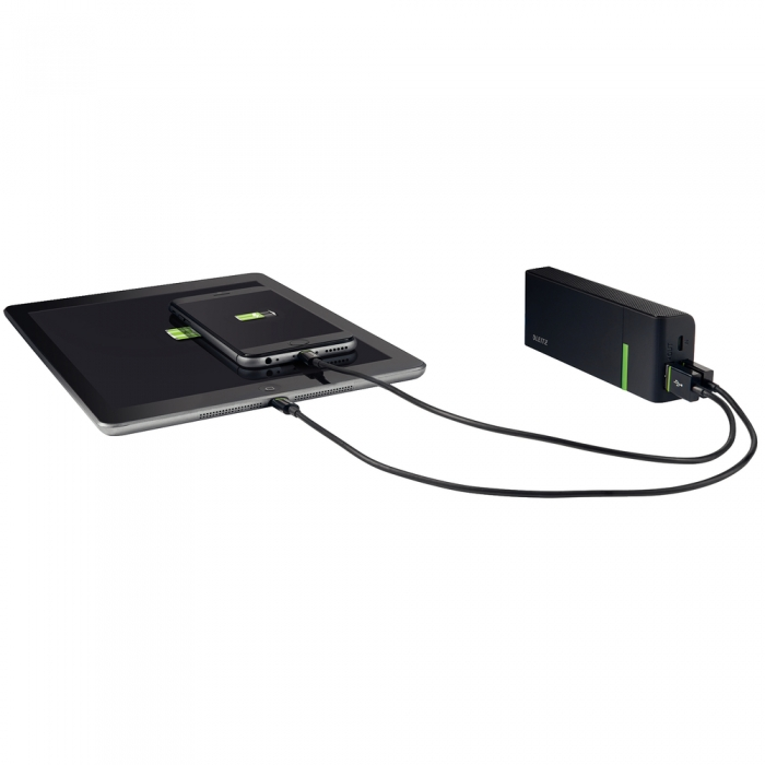 Baterie externa LEITZ Complete USB High Speed Power Bank 5200 - neagra