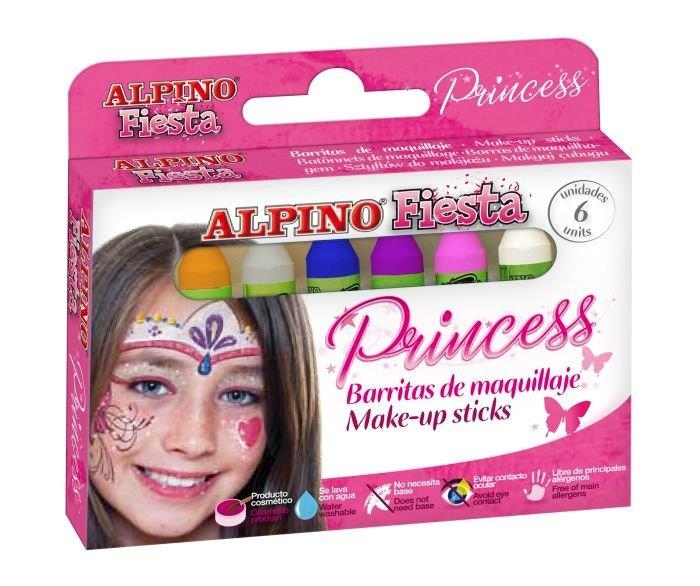 Creioane machiaj, 6 culori/cutie, ALPINO Princess 0