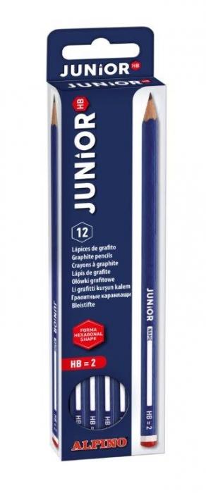 Creion cu guma ALPINO Junior - duritate HB 0