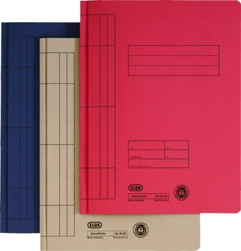 Dosar carton cu sina  ELBA - rosu 0