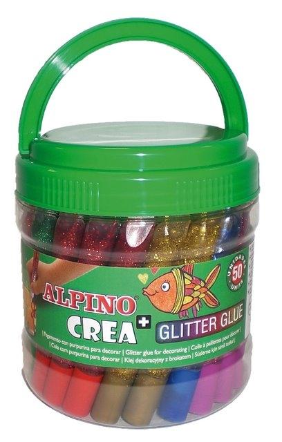 Galeata lipici Glitter Classic, 50 buc/set, ALPINO Crea 0