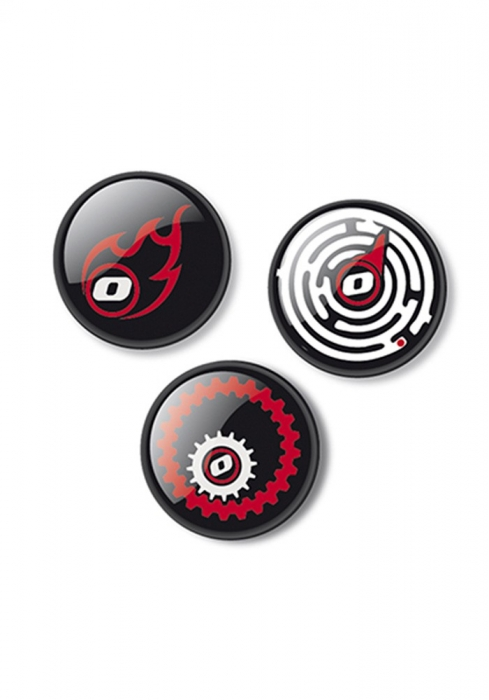 Insigne, 3buc/set, Roller NIKIDOM - Fire