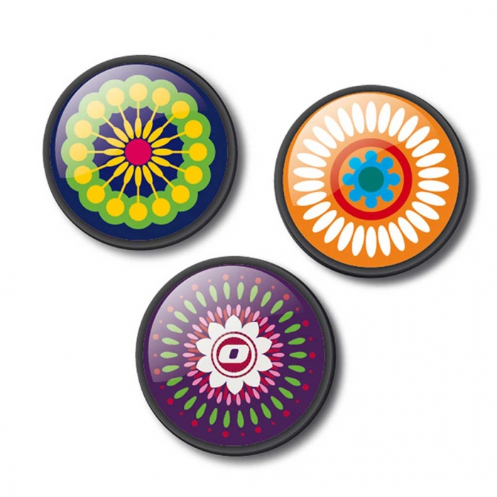 Insigne, 3buc/set, Roller NIKIDOM - Mandala 1