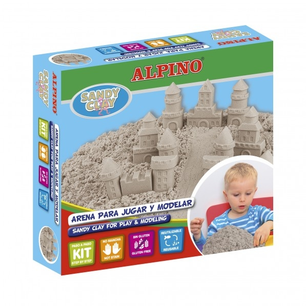 Kit nisip cleios 600gr. + set accesorii, ALPINO Sand Castels 0