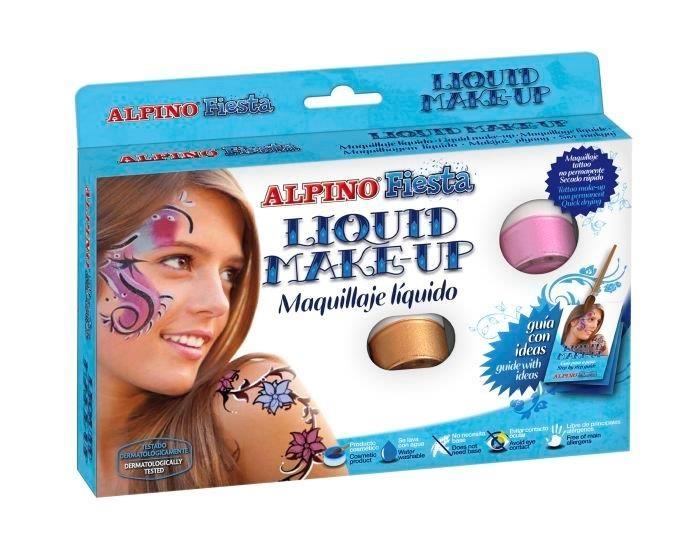 Make-up lichid, 8 culori x 10 gr, ALPINO Fiesta 0
