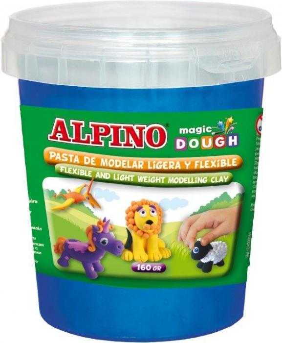 Plastilina magica, 160 grame/cutie, ALPINO - albastra 0