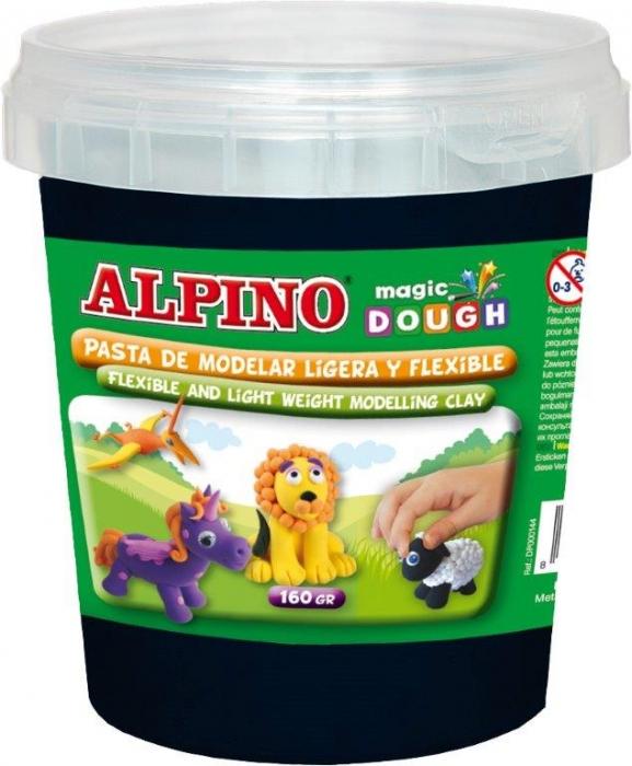 Plastilina magica, 160 grame/cutie, ALPINO - neagra