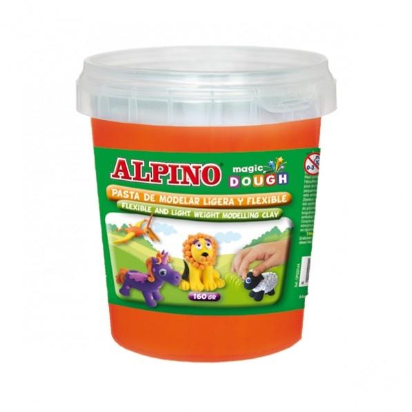 Plastilina magica, 160 grame/cutie, ALPINO - orange 0