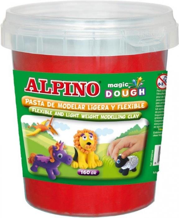 Plastilina magica, 160 grame/cutie, ALPINO - rosie 0