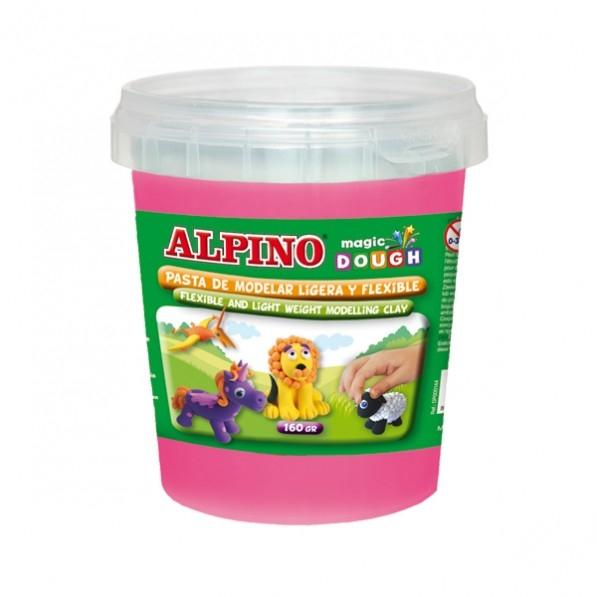 Plastilina magica, 160 grame/cutie, ALPINO - roz 0