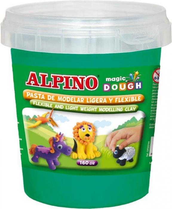 Plastilina magica, 160 grame/cutie, ALPINO - verde 0