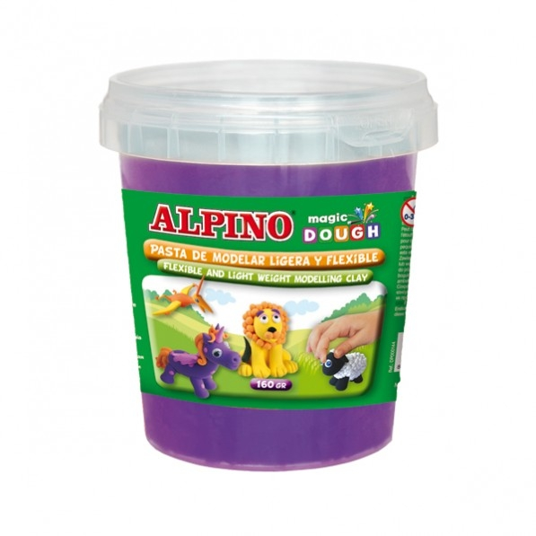 Plastilina magica, 160 grame/cutie, ALPINO - violet 0